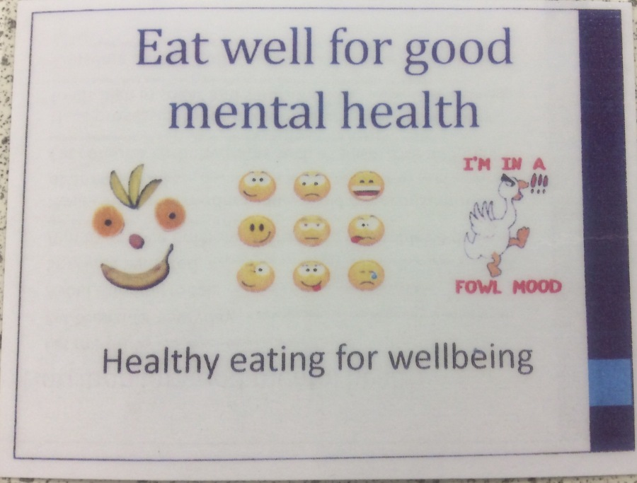 A whole school assembly on food and mental health.